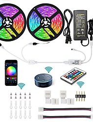 cheap -KWB 10M 2*5M WIFI Smart LED Strip Lights Kit RGB Tiktok Lights 5050 300 LEDs Phone Controlled Timer LED Tape Light Works with Android iOS and Google Home and 12V 6A Power Supply
