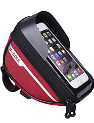 cheap -Cell Phone Bag Bike Handlebar Bag 6.4 inch Touch Screen Waterproof Portable Cycling for Sky Blue Dark Gray Black / Red / Reflective Strips