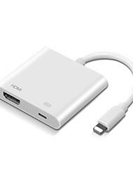 Недорогие -прибытие высокого качества для молнии AV AVI / HDTV ТВ цифровой кабель-адаптер для Ipad для Iphone 8 х 7 для IOS 11/12 13