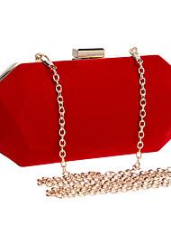 cheap -Women's Chain Polyester / Velvet Evening Bag Wedding Bags Solid Color Black / Blue / Purple / Fall & Winter