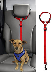 cheap -Dog Cat Pets Harness Leash Car Seat Harness / Safety Harness Portable Retractable Soft For Car Adjustable Flexible Durable Safety Solid Colored Classic Nylon Husky Labrador Alaskan Malamute Golden