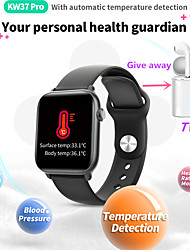cheap -KW37PRO Women Smart Bracelet Smartwatch BT GPS Fitness Equipment Monitor Waterproof with TWS Bluetooth HeadsetTake Body Temperature for Android Samsung/Huawei/Xiaomi iOS Apple Mobile Phone