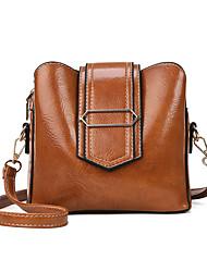 cheap -Women's Rivet PU Leather Crossbody Bag Leather Bag Solid Color Black / Orange / Brown / Fall & Winter