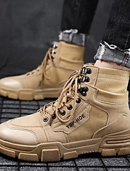 cheap -Men's Summer Outdoor Boots Canvas Non-slipping Black / Brown / Beige