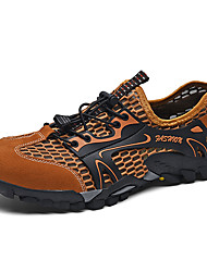 cheap -Men's Fall / Spring & Summer Sporty / Casual Daily Outdoor Trainers / Athletic Shoes Hiking Shoes / Upstream Shoes Mesh Breathable Non-slipping Shock Absorbing Black / Green / Brown