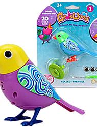 Недорогие -Электронные домашние животные Птица Животный принт пение Новый дизайн со звуковым датчиком Ластик Детские Взрослые Игрушки Подарок