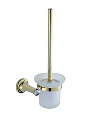 Недорогие -золотой держатель для туалетной щетки хрустальные аксессуары для ванной комнаты