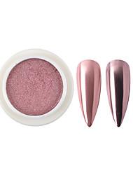 Недорогие -1 коробка твердые зеркальные порошки блестит розовое золото металлический порошок хром пигмент поделки украшения для ногтей