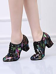 cheap -Women's Modern Shoes Heel Cuban Heel Black