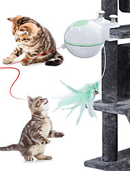 cheap -Ball Laser Toy Feather Toy Interactive Toy Cat Kitten Pet Toy 1 set Round Pet Friendly LED Automatic Pet Exercise ABS+PC Gift