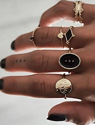 cheap -Women's Ring Set 6pcs Gold Alloy Circular Fashion Street Jewelry