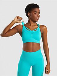povoljno -Žene 2 dijela Activewear Set Odjeća za vježbanje 2pcs Najlon Mala težina Prozračnost Quick dry Fitness Trening u teretani Trčanje Aktivna obuka Sportska Komplet odjeće za atletiku Crn purpurna boja