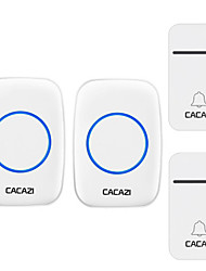 cheap -CACAZI Smart Self-Powered Wireless Doorbell 200M Remote No Battery Required Waterproof Home Cordless Door Bell 38 Chimes US EU UK AU Plug