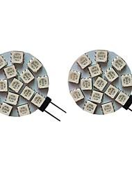 cheap -2pcs 3 W LED Bi-pin Lights 300 lm G4 15 LED Beads SMD 5050 Warm White Cold White Natural White 9-30 V