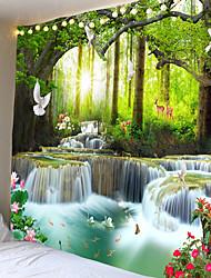 halpa -3d seinä taide psykedeelinen kuvakudos seinälle ripustettava mandala vesiputous gobeliini kukka hippi monikäyttöinen gobeliini olohuone