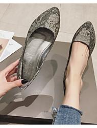 cheap -Women's Flats Flat Heel Pointed Toe Daily PU Light Brown Black
