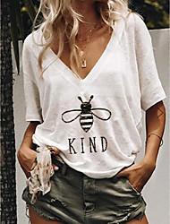 preiswerte -Damen Tier T-shirt Alltag Weiß / Blau / Grün