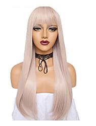 Недорогие -Shakugan no Shana Unicorn Пони Косплэй парики Жен. Прямая челка 26 дюймовый Термостойкое волокно Естественные прямые Розовый Розовый Аниме