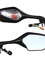 cheap -Pair Motorcycle Rear View Mirrors Turn Signal Light For Honda CBR1000RR 2008-2013
