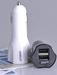 cheap -JC09 Universal 2A Double USB Car Charger for Mobile Phone iPhone 6 5 HTC