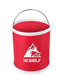 cheap -Male Wolf Outdoor Telescopic Folding Bucket Household Storage Water Portable Fishing Bucket 11l Car Wash Bucket Storage Bucket