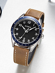 cheap -Men's Dress Watch Japanese Quartz Genuine Leather 30 m Water Resistant / Waterproof Day Date Analog Fashion Cool - Black Blue Brown One Year Battery Life