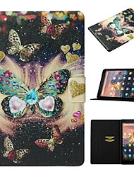cheap -Case For Amazon Kindle Paperwhite 2/3/4 / Amazon HD8(2016) Card Holder / with Stand / Pattern Full Body Cases Butterfly PU Leather For kindle fire HD 10 2015 2017