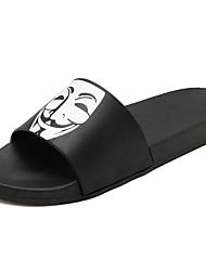 abordables -Homme Eté Simple Quotidien Chaussons & Tongs PVC Respirable Noir