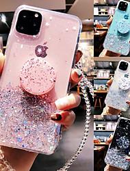 cheap -Phone Case For Apple Back Cover iPhone 12 Pro Max 11 SE 2020 X XR XS Max 8 7 6 Ring Holder Translucent Glitter Shine Glitter Shine TPU