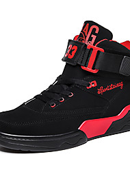 cheap -Men's / Unisex Fall / Spring & Summer Sporty / Casual Daily Outdoor Trainers / Athletic Shoes Basketball Shoes / Walking Shoes Faux Leather Breathable Non-slipping Shock Absorbing Black / White