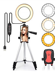 cheap -Led Light Ring For Selfie Lamp Ring Light Tripod With Lamp Photography Lighting For Youtube Holder Camera Phone Clip Studio