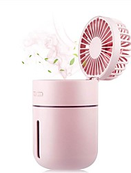 cheap -Cool Mist Humidifier Fan with 7 Color Night Lights 3-in-1 Ultrasonic Portable USB Rechargeable Battery 400ml Capacity with Air Misting Fan for Home Bedroom Car Office