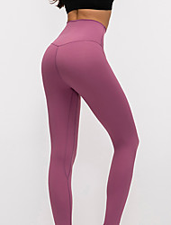cheap -Women's High Waist Yoga Pants Cropped Leggings Butt Lift 4 Way Stretch Breathable Purple Pink Fruit Green Nylon Non See-through Gym Workout Running Fitness Sports Activewear High Elasticity Skinny