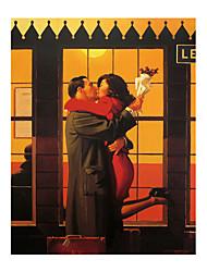 ieftine -imprimeu panouri laminate pe panou - oameni abstracte imprimeuri moderne de artă înapoi, unde aparțineți de către jack vetriano poster și imprimeuri cuadros panza pictură imagini de artă grafică