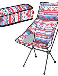 cheap -Camping Chair High Back with Headrest Portable Foldable Washable Comfortable Aluminum Alloy Oxford for 1 person Fishing Beach Camping / Hiking / Caving Traveling Autumn / Fall Summer Red / White