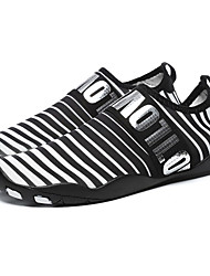 cheap -Men's Summer Sporty Athletic Trainers / Athletic Shoes Upstream Shoes Elastic Fabric Non-slipping Black / Gold / Black / Silver / Black Color Block