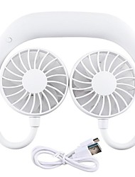 cheap -USB Rechargeable Wearable Portable Hand Free Neckband Fan Personal Mini Neck Double Fans 3 Speed Adjustable For Home Office