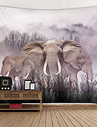 cheap -Painting Elephant Digital Printed Tapestry Decor Wall Art Tablecloths Bedspread Picnic Blanket Beach Throw Tapestries Colorful Bedroom Hall Dorm Living Room Hanging