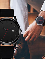 cheap -Men's Dress Watch Quartz Modern Style Stylish Stainless Steel Black / Brown Casual Watch Large Dial Analog Classic Casual - Black Brown One Year Battery Life