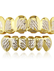 cheap -Teeth Set / Teeth Grills Statement Stylish Luxury Unisex Body Jewelry For Halloween Street Copper Gold