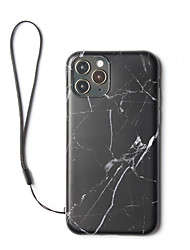 cheap -IMD Back Cover Marble Plastic with Hand Rope Case For Apple iPhone 11 Pro Max Shockproof