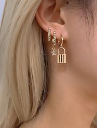 cheap -Women's Earrings Ball Earrings Star Punk Korean Earrings Jewelry Gold For Gift Date Street