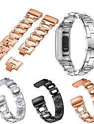 Недорогие -ремешок для часов для зарядки fitbit 3 / зарядки fitbit 4 fitbit ювелирный дизайн браслет из нержавеющей стали
