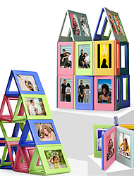 cheap -3*3inch Magnetic Photo Frames Building Bricks 10 pcs Family Mini Picture Frame Colorful for Refrigerator Building Toys All Toy Gift / Kid's