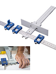 cheap -Drill Guide Sleeve Cabinet Hardware Jig Drawer Pull Wood Drilling Dowelling Hole Jig Furniture Punching Tool True Position Tools