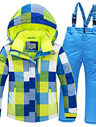 cheap -RIVIYELE Men's Women's Ski Jacket Ski / Snow Pants Skiing Camping / Hiking Winter Sports Waterproof Windproof Warm Polyester Warm Top Warm Pants Clothing Suit Ski Wear