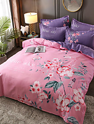 cheap -4 Pieces Chinoiserie Duvet Cover Set Elegant Floral Pattern Brushed Comfortable Beddings