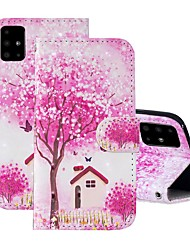 cheap -Case For Samsung Galaxy A51/ Galaxy A20e / Galaxy Note 10 Plus Wallet / Card Holder / with Stand Full Body Cases Tree PU Leather For Galaxy A71/A10S/A20S/M30S/A2 Core/A10E