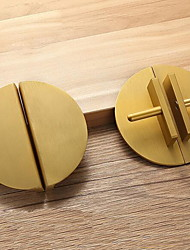 cheap -New Chinese Style Door Handle Cabinet Shoe Cabinet Door Handle Home Cabinet Door Golden Antique Semicircle Paired Handle