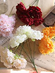 Недорогие -44см 5 пион свадебное моделирование поддельные цветы украшения дома дорога 1 палка